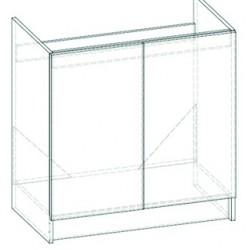 LIVIA LV-09 mosogató alatti szekrény, 80*46*82 cm - sötét sonoma