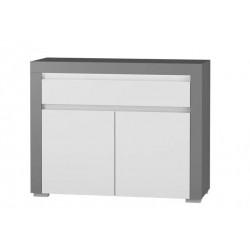 ALABAMA ABK-2 2 ajtós+1 fiókos komód, 106*38,9*83,7 cm