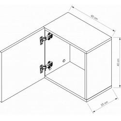 ARIZONA RRP-2 fali szekrény, 40*25*40 cm