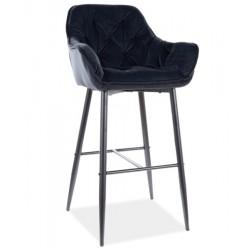 CHERRY H-1 Velvet bárszék, 56*40*76/105 cm - Bluvel 19 fekete