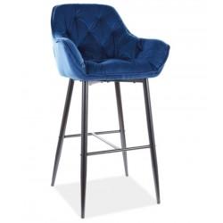 CHERRY H-1 Velvet bárszék, 56*40*76/105 cm - Bluvel 86 kék