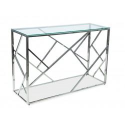 ESCADA C konzolasztal, 120*40*78 cm - ezüst
