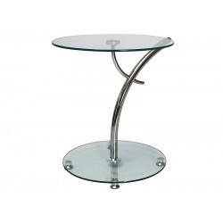 MUNA lerakóasztal, 50*50*55 cm - króm/üveg  ÚJDONSÁG!