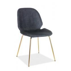 ADRIEN Velvet fémvázas szék, 50*42*87 cm - Bluvel 19