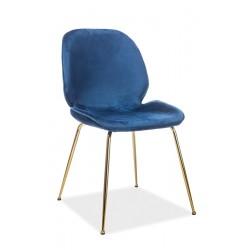 ADRIEN Velvet fémvázas szék, 50*42*87 cm - Bluvel 86