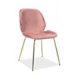 ADRIEN Velvet fémvázas szék, 50*42*87 cm - Bluvel 52