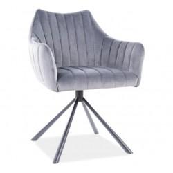 AGAVA Velvet fémvázas szék, 62*45*84 cm - Bluvel 14 szürke