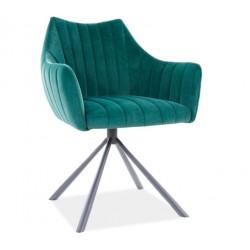AGAVA Velvet fémvázas szék, 62*45*84 cm - Bluvel 78 zöld