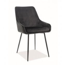 ALBI Velvet fémvázas szék, 39*45*83 cm - Tap.117 fekete