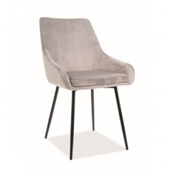 ALBI Velvet fémvázas szék, 39*45*83 cm - Tap.148 világos szürke
