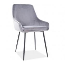 ALBI Velvet fémvázas szék, 39*45*83 cm - Tap.72 szürke