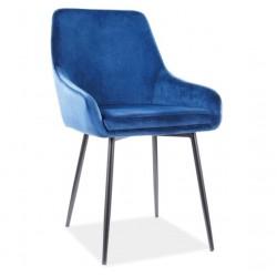 ALBI Velvet fémvázas szék, 39*45*83 cm - Tap.91 kék