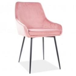 ALBI Velvet fémvázas szék, 39*45*83 cm - Tap.92 antik rózsaszín