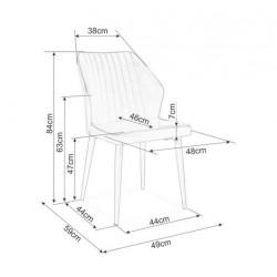 APOLLO fémvázas szék, 47*43*85 cm - szürke