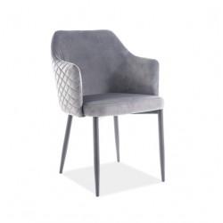 ASTOR Velvet karfás szék, 46*46*84 cm - Bluvel 14 szürke