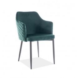 ASTOR Velvet karfás szék, 46*46*84 cm - Bluvel 78 zöld