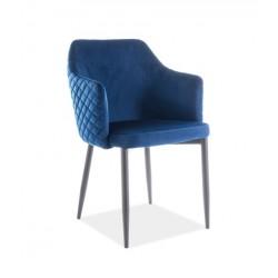 ASTOR Velvet karfás szék, 46*46*84 cm - Bluvel 86 sötétkék
