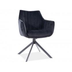 AZALIA Velvet fémvázas szék, 61*44*86 cm - Bluvel 19 fekete  ÚJDONSÁG!