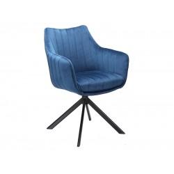 AZALIA Velvet fémvázas szék, 61*44*86 cm - Bluvel 86 sötétkék  ÚJDONSÁG!