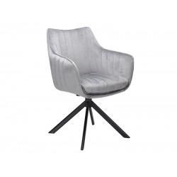 AZALIA Velvet fémvázas szék, 61*44*86 cm - Bluvel 14 szürke  ÚJDONSÁG!