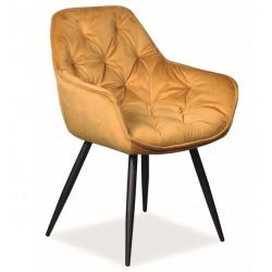 CHERRY Velvet fémvázas szék, 45*44*83 cm - Bluvel 68 curry