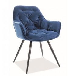 CHERRY Velvet fémvázas szék, 45*44*83 cm - Bluvel 86 kék