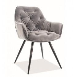 CHERRY Velvet fémvázas szék, 45*44*83 cm - Bluvel 14 szürke