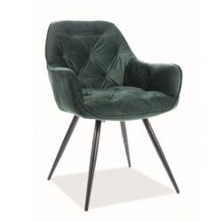 CHERRY Velvet fémvázas szék, 45*44*83 cm - Bluvel 78 zöld