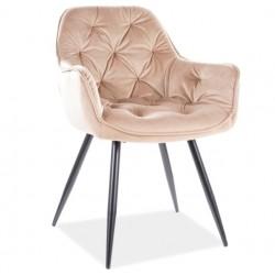 CHERRY Velvet fémvázas szék, 45*44*83 cm - Bluvel 28 bézs