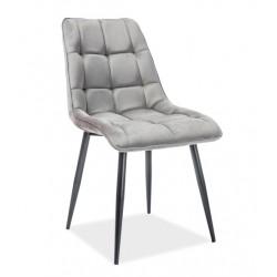CHIC Velvet fémvázas szék, 50*43*88 cm - fekete/Bluvel 14 szürke