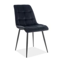 CHIC Velvet fémvázas szék, 50*43*88 cm - fekete/Bluvel 19 fekete
