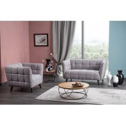 CASTELLO 1 fotel, 92*85*78 cm - Lira 09 szürke