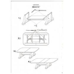 BEATA állítható magasságú, bővíthető dohányzóasztal, 130/170*67* 60/77 cm - dió
