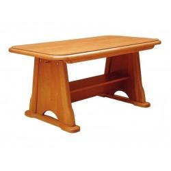 BEATA állítható magasságú, bővíthető dohányzóasztal, 130/170*67* 60/77 cm - éger