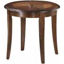 CALIFORNIA D lerakóasztal, 60*60*55 cm - sötét dió