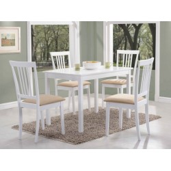 FIORD étkezőasztal, 110*70*74 cm - fehér