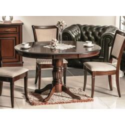 MARGO kerek étkezőasztal, 90*90/125*75 cm - sötét dió