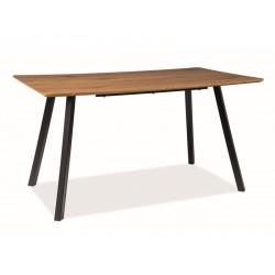 MANO étkezőasztal, 140*80*75 cm - fekete/tölgy
