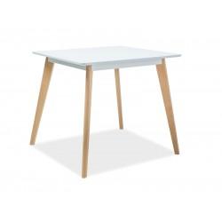 DECLAN II. étkezőasztal, 80*80*75 cm - bükk/fehér