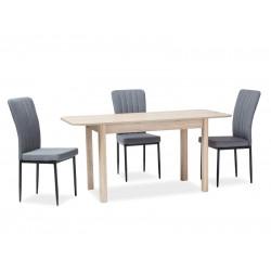 DIEGO II étkezőasztal, 120/160*68*75 cm - sonoma