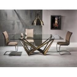 ASTON üveg étkezőasztal, 200*100*76 cm