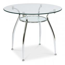 FINEZJA A üveg étkezőasztal, 90*90*77 cm