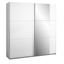 BASTIA tolóajtós gardrób, 200*65*215 cm - fehér