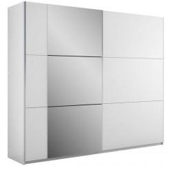 BASTIA tolóajtós gardrób, 250*65*215 cm - fehér