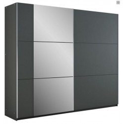 BASTIA tolóajtós gardrób, 250*65*215 cm - grafit