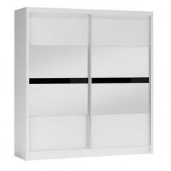 BATUMI tükrös tolóajtós gardrób, 203*61*215 cm - fehér