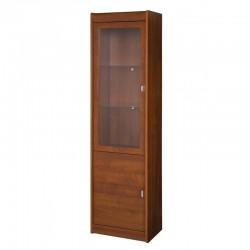 DOVER 18 vitrines szekrény, 52*36*194 cm - primavera cseresznye