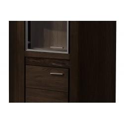 VELVET 16 sarok szekrény 91*91*200 cm - fekete tölgy