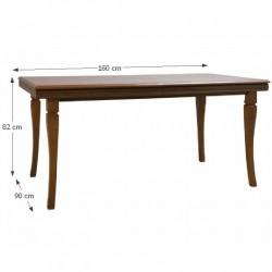 KORA ST étkezőasztal, 160/203*90*82 cm - Samoa king