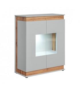 BERLIN WSN alacsony vitrin LED világítással, 90*40*111 cm